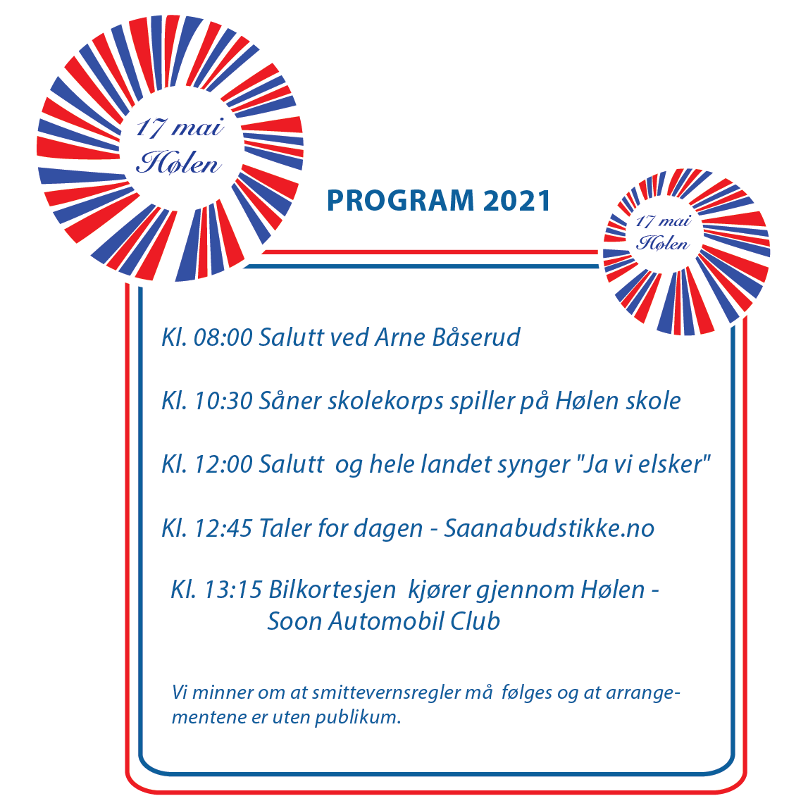 Illustrasjon av 17. mai programmet